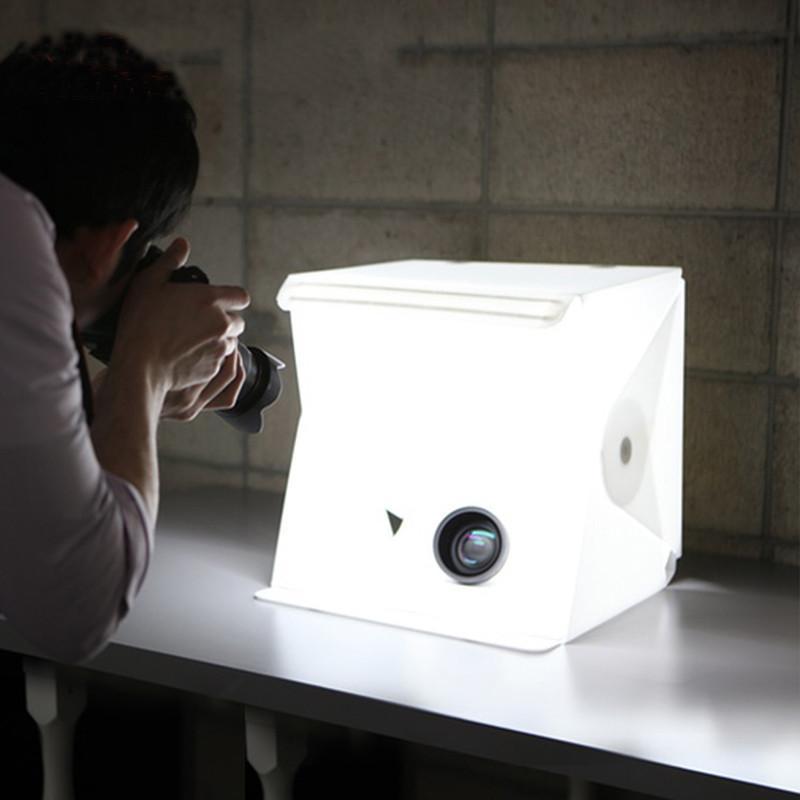 mini studio photo pliable et portable photo box soft box. Black Bedroom Furniture Sets. Home Design Ideas