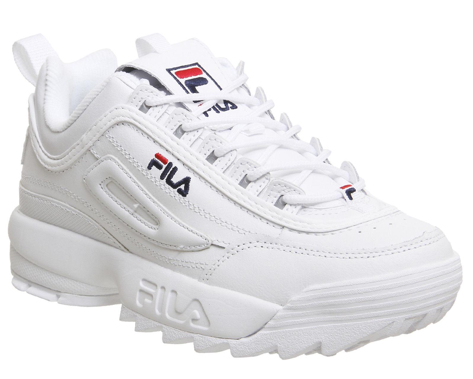 Unisex Originale FILA Disruptor II 2 White Authentic Shoes Size 35