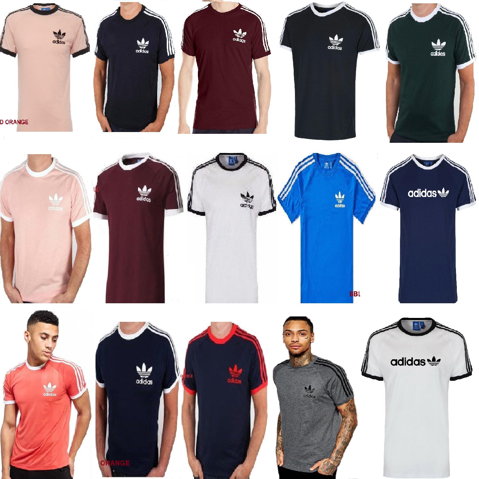 36f88e6a Adidas Originals California Retro Essentials Crew Neck Short Sleeve Men T- Shirt
