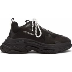 Triple S Low Top Trainers - Black - Balenciaga Sneakers