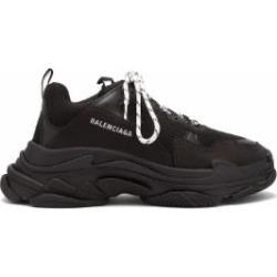 Triple S Low Top Trainers - Black - Balenciaga Sneakers